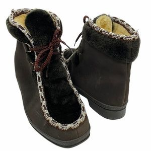 Snowland Vintage Fleece Lined Winter Lace Up Boots